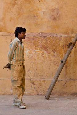 Amber Man Working