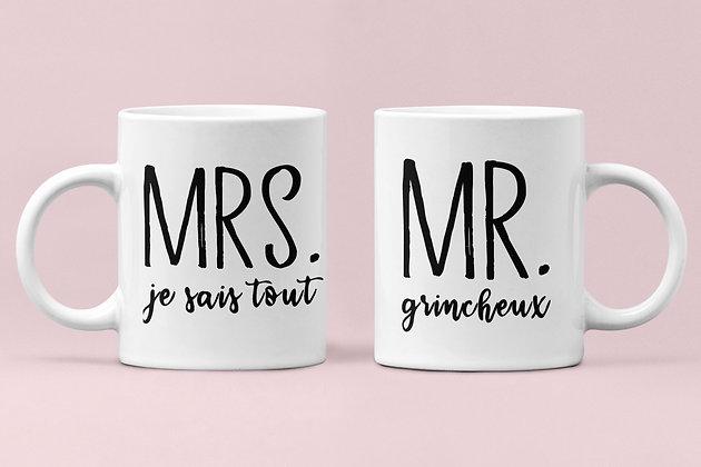 Duo Mug Mr. & Mrs. personnalisé