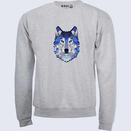 Sweat-Pull Over Loup origami illustration
