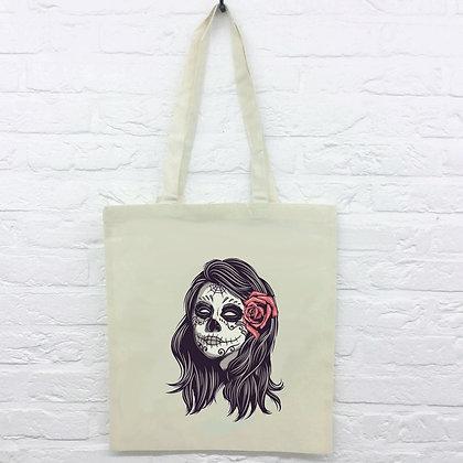 Tote Bag Tête de mort Méxicaine La Catrina