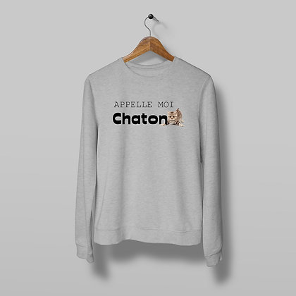 Sweat Pull Over Appelle moi chaton Illustration