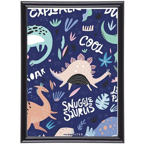 Affiche Illustration dino poster dinosaure