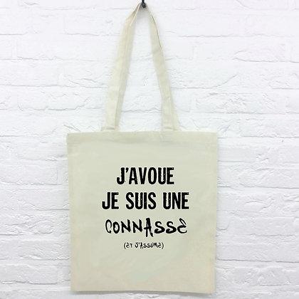 Tote Bag J'avoue citation