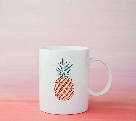 Mug Ananas Illustration dessin tasse à café
