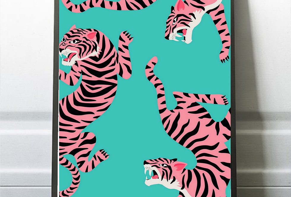 Affiche illustration tigre 315