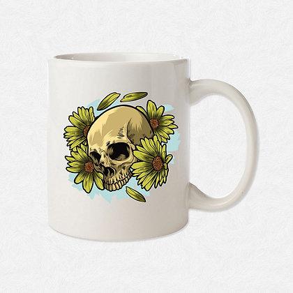 Mug Tête de mort fleur