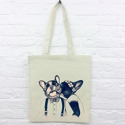 Tote Bag Bouledogues mignons love