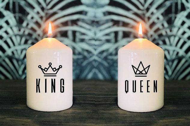 Duo de Bougie King et Queen
