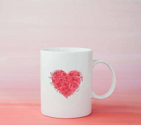 Mug Cœur Illustration dessin idée cadeau femme amour maman mère