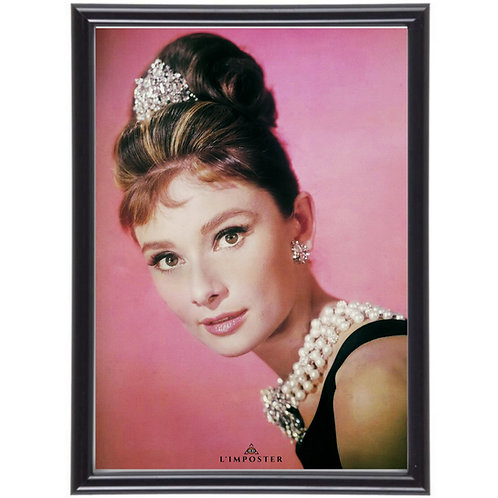 Affiche illustration Audrey Hepburn