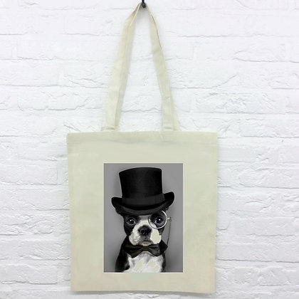 Tote Bag Chien hipster