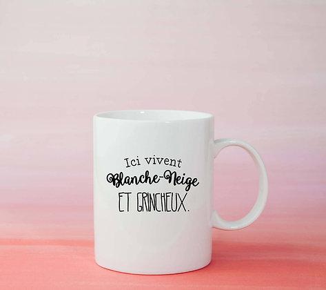 Mug Blanche neige et grincheux Citation drôle humour idée cadeau deco