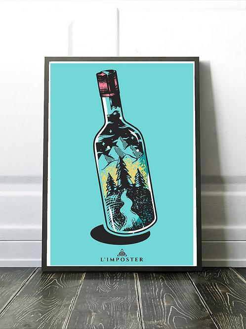 Affiche illustration bouteille