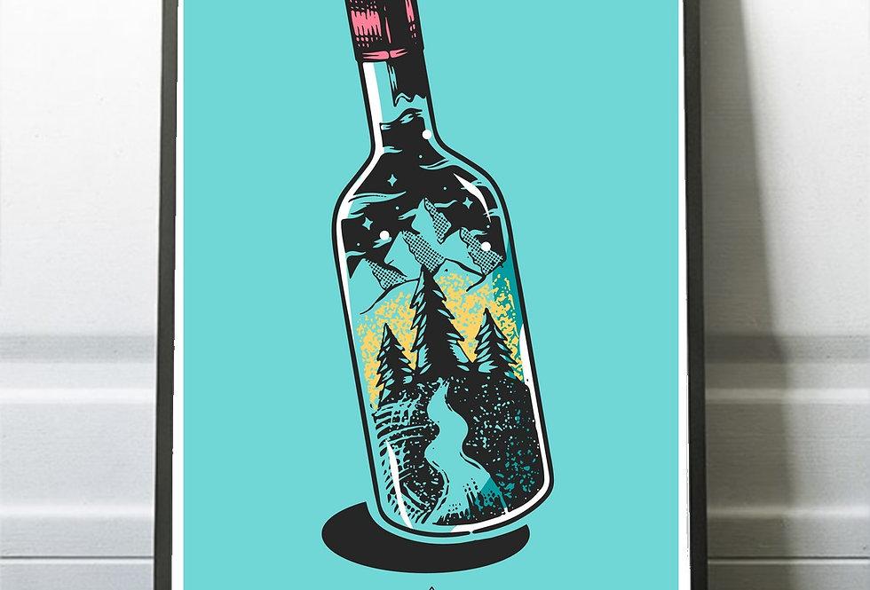 Affiche illustration bouteille 296