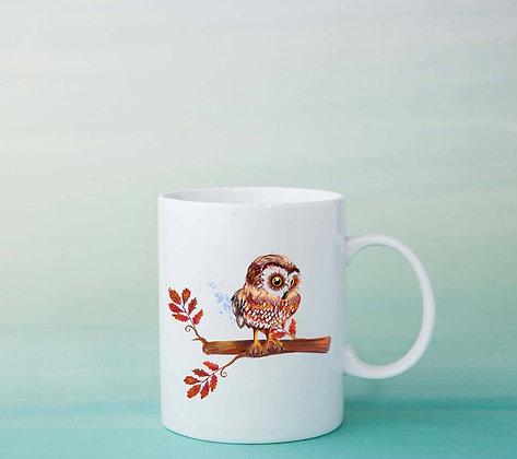 Mug Chouette watercolor