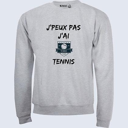Sweat-Pull Over J'peux pas j'ai tennis citation