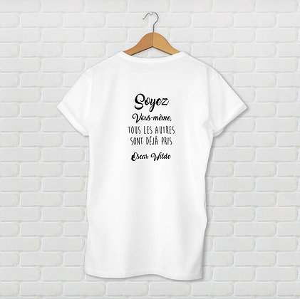T-shirt unisexe Soyez vous même Citation