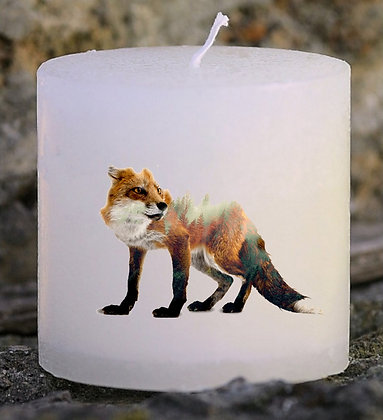 Bougie Personnalisée Nany Candle Renard nature chasse