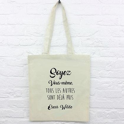 Tote Bag Soyez vous même  citation