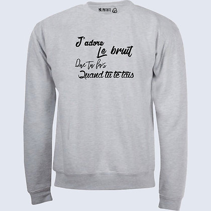 Sweat-Pull Over J'adore citation