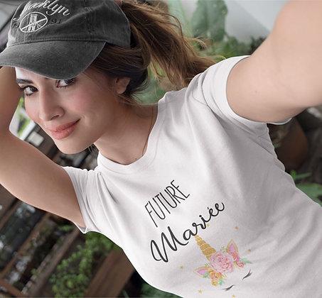 T-shirt EVJF future mariée licorne