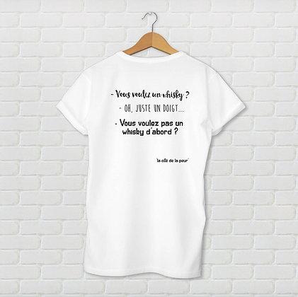 T-shirt unisexe Juste un doigt Citation
