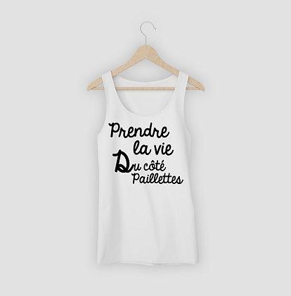Débardeur citation Côté paillettes