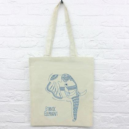 Tote Bag Ethnic Éléphant