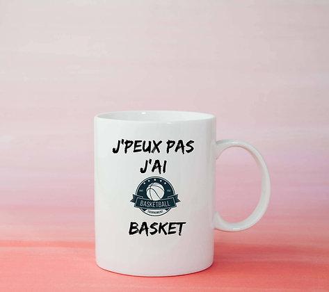 Mug J'peux pas j'ai basket Citation original idée cadeau