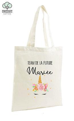 Tote Bag EVJF team de la mariée licorne