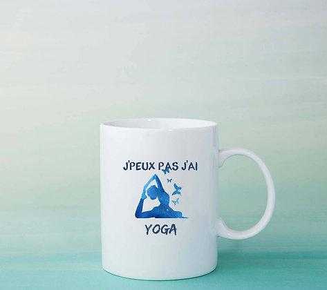 Mug J'peux pas j'ai yoga Citation idée cadeau original pas cher