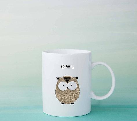 Mug Hibou illustration tasse à café idée cadeau