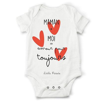 Body bébé personnalisé pas cher