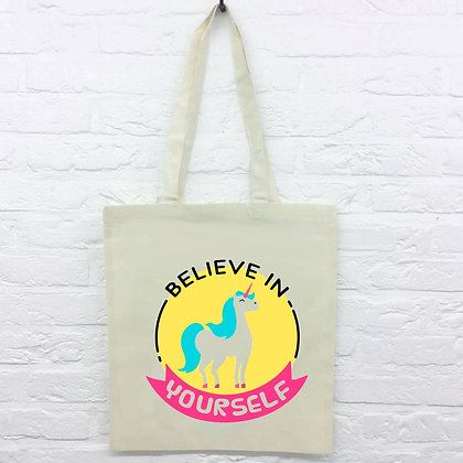Tote Bag Believe in yourself licorne 107