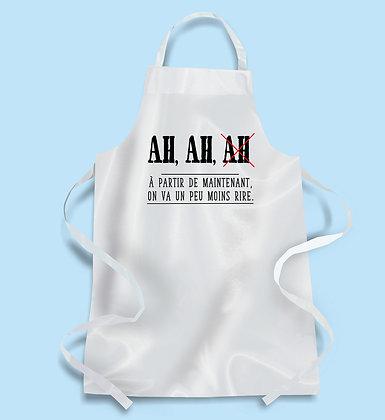 Tablier de cuisine Ah Ah AH à partir de maintenant