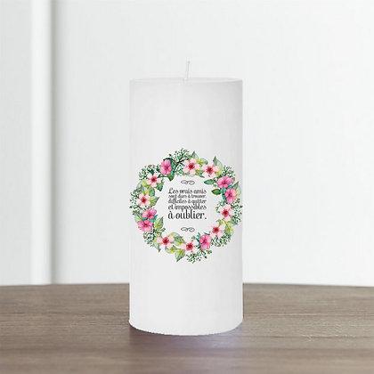Bougie imprimée originale idée cadeau pas cher Nany Candle