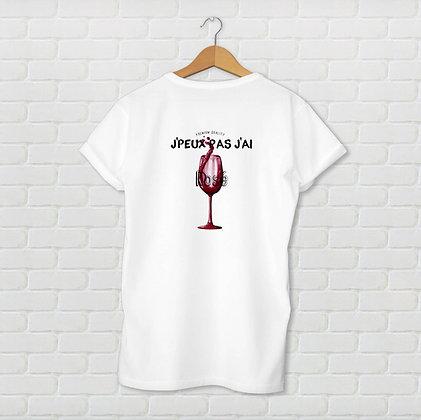 T-shirt unisexe J'peux pas j'ai rosé Citation