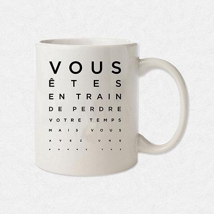 Mug Test de vue funny citation