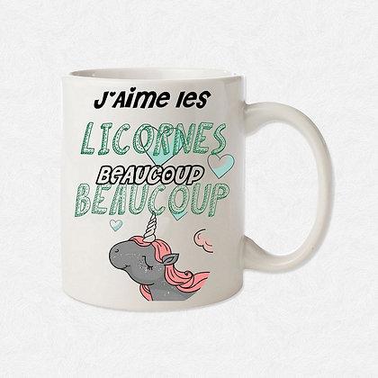 Mug J'ai les licornes citation
