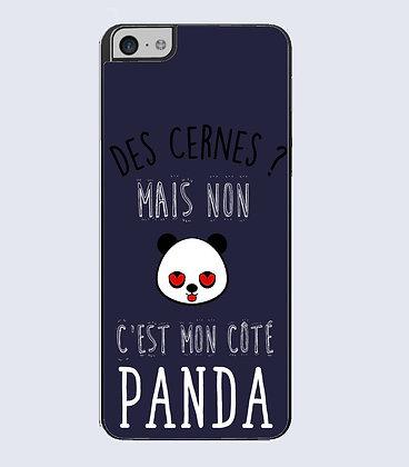 Coque mobile iPhone Des cernes mon côté panda 738