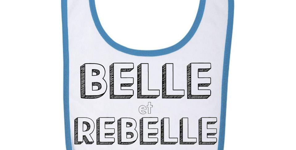 Bavoir Bébé Belle et rebelle 93