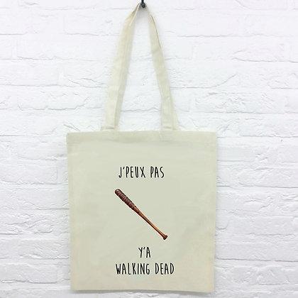 Tote Bag J'peux pas y'a walking dead