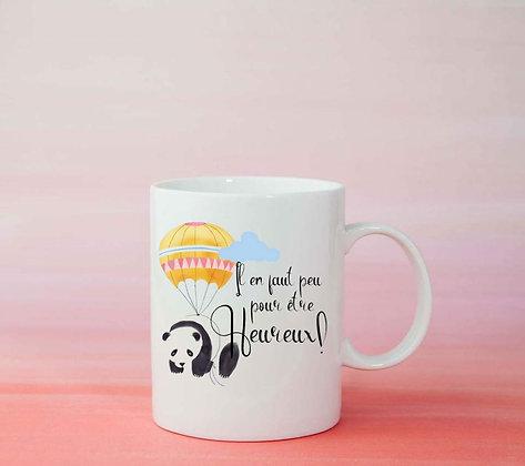 Mug Il en faut peu pour être heureux disney panda licorne tasse cadeau