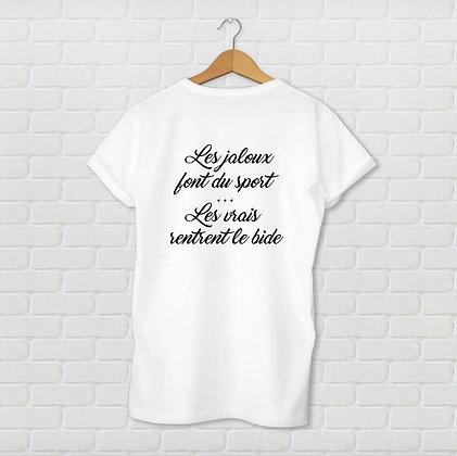 T-shirt unisexe Les jaloux Citation