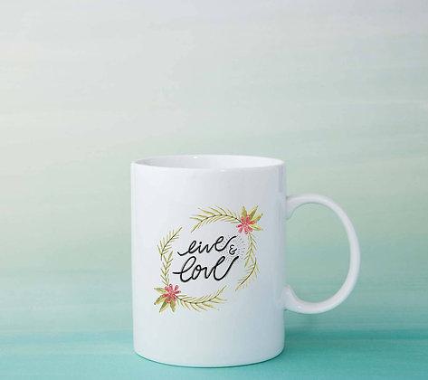 Mug Live love idée cadeau originale tasse à café