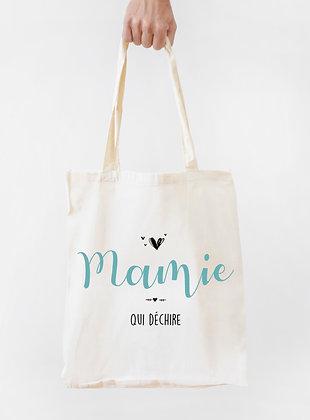 Sac en tissu Tote bag Mamie idée cadeau pas cher fête des grands mères