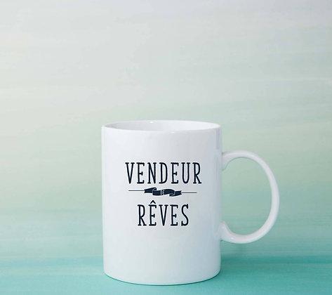 Mug Vendeur de rêve Citation tasse à café