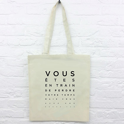Tote Bag Test vue humour
