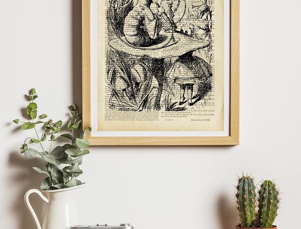 Affiche Vintage Alice Aux Pays Des Merveilles