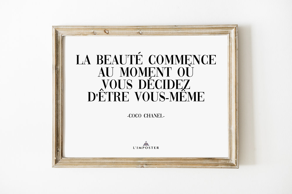 Affiche Poster Citation Coco Chanel 202
